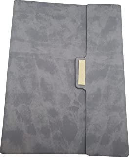 $29 » Hagins Essentials Gray Daily Planner – A5 Premium PU Leather Planner – Organizer Planner with Gel Pen, Business Card Slot...