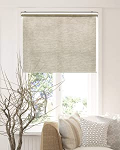 CHICOLOGY Roller Shades , Cordless Blinds , Window Shades for Home , Roller Window Shades , Window Treatments , Door Blinds , Light Filtering Shades , Felton Sand (Natural Woven) , 35