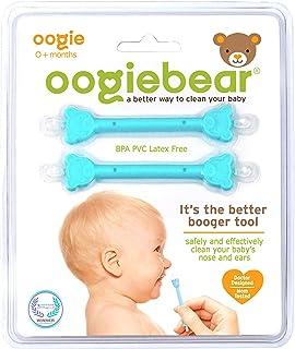 oogiebear - Boogger و تمیز کننده گوش بینی کودک ایمن - هدیه دوش کودک و ابزار رجیستری لازم برای حذف اسکن - دو بسته - آبی