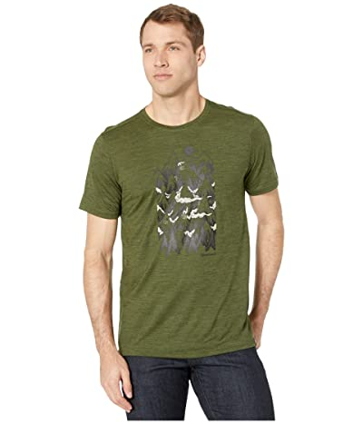 Smartwool Merino Sport 150 Mountain Ventures Tee (Moss Green Heather) Men