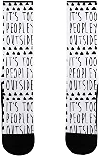 LookHUMAN It's Too Peopley Out US Size 7-13 Socks