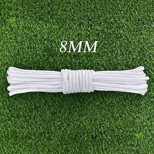 Cordes Corde d'escalade Sécurité extérieure Corde auxiliaire pour travaux aériens Corde en nylon 8mm (0.31in) Résistant à l'usure et à la corrosion Convient pour le groupage   sports de plein air   es