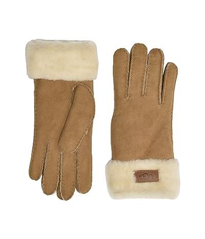 UGG Turn Cuff Water Resistant Sheepskin Gloves (Chestnut) Extreme Cold Weather Gloves