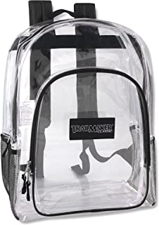 Deluxe Model Water Resistant Clear Backpacks for Men, Women, Kids, With Reinforced,..