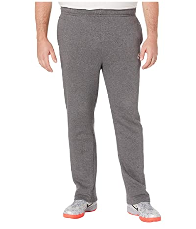 Nike Big Tall NSW Club Pants Open Hem (Charcoal Heather/Anthracite/White) Men