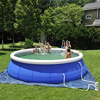 Family Swimming Pool Inflatable Swimming Pool for Kids and Adults,Full-Sized Blow Up Pool for Family,Thick Abrasion Resist...