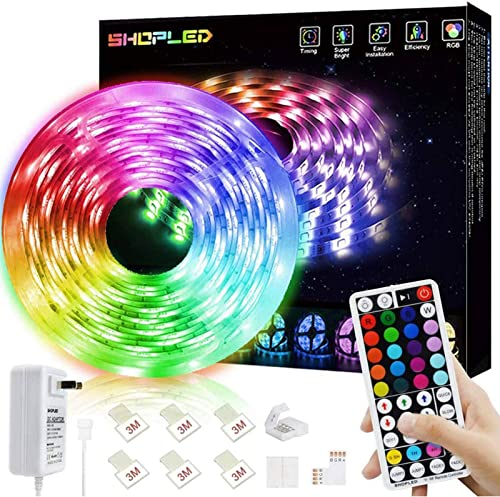 SHOPLED LED Strips Lights 5m RGB Light Strip Kit, 5050 SMD Flexible Color Changing LED Tape Lights with RF Remote Con...