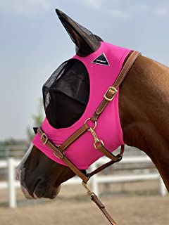 TGW RIDING Horse Fly Mask, Fly Mask with Ears, Extra Comfort Lycra Grip Soft Mesh Horse Fly Mask with Ears