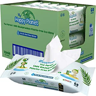 My Happy Planet 100% Biodegradable Baby Wet Wipes - 99.9%