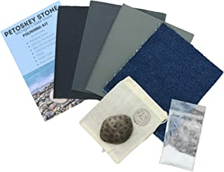 GBP Products Authentic Petoskey Stone Polishing Kit Great DIY Kit for Kids Rock Collection and Rock Tumbler Kit