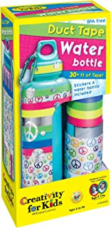 Creativity for Kids Duct Tape Water Bottle - Decorate 1 BPA Free,  Reusable Water Bottle