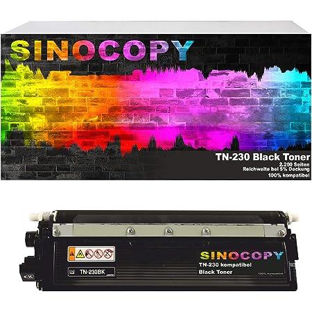 Sinocopy Black Xxl Toner Kompatibel Für Brother Tn 230 Hl 3040n Hl 3040cn Hl 3070cn Hl 3070cw Mfc 9120cn Mfc 9320cw Dcp 9010cn Bürobedarf Schreibwaren