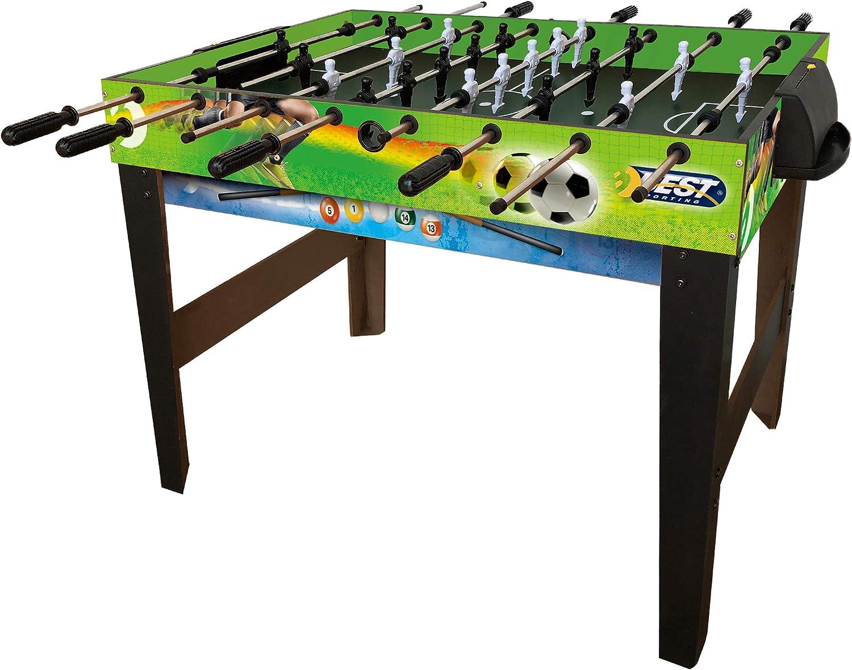 Best Sporting Futbolín Multi 4 en 1 con futbolín, ping pong, hockey sobre mesa