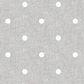 Home Direct Mantel de Hule, Rectangular 140 x 240cm Lunares Gris Claro
