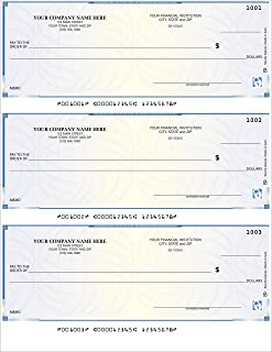 CheckSimple Laser Business Checks, 3/Page, High Security - Compatible with QuickBooks, Quicken (100 Qty) - Custom