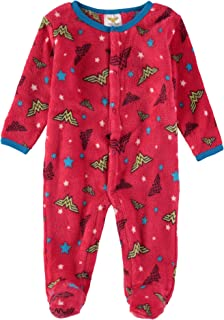 DC Comics Infant Baby Girls Wonder Woman Fleece Footies
