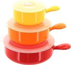 Microondas Cocina Triple contenedores de colores–Juego de 3.