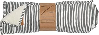MOG & BONE Plush Blanket Grey Stripe Print