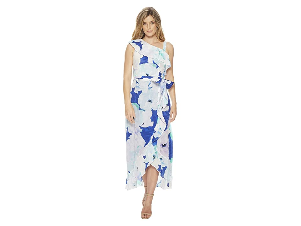 Calvin Klein Floral Asymmetric Shoulder Maxi CD8G31HP (Atlantis Multi) Women