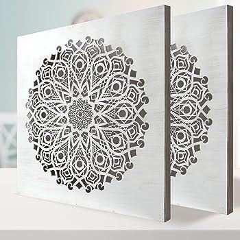 Conjunto de 2 Cuadro Mandala de Pared Calada, Fabricada ...