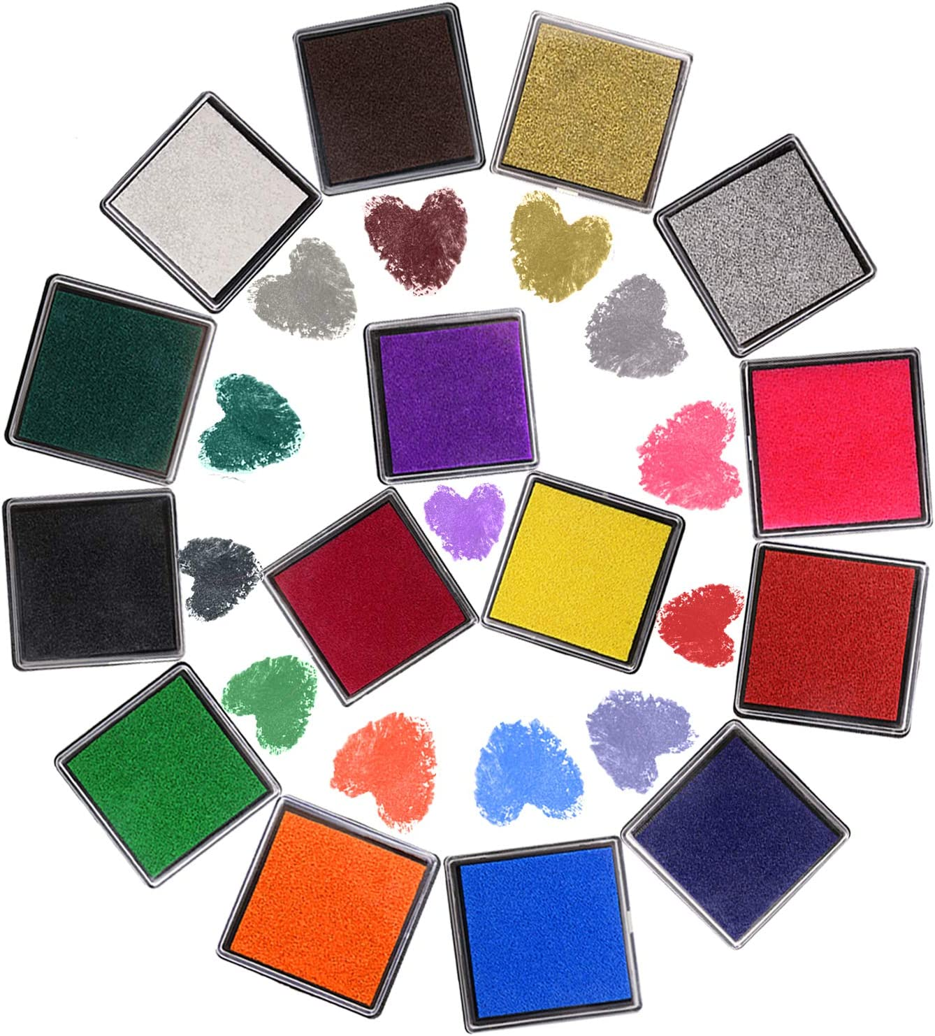 Tupalizy 15 Colors Cash special price Washable Stamp for Guest Fingerprint Brand new Pad Book