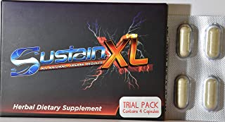 Sustain XL All Natural.Energy Stamina & Extra-Strength Booster Trial Pack (4) Capsules