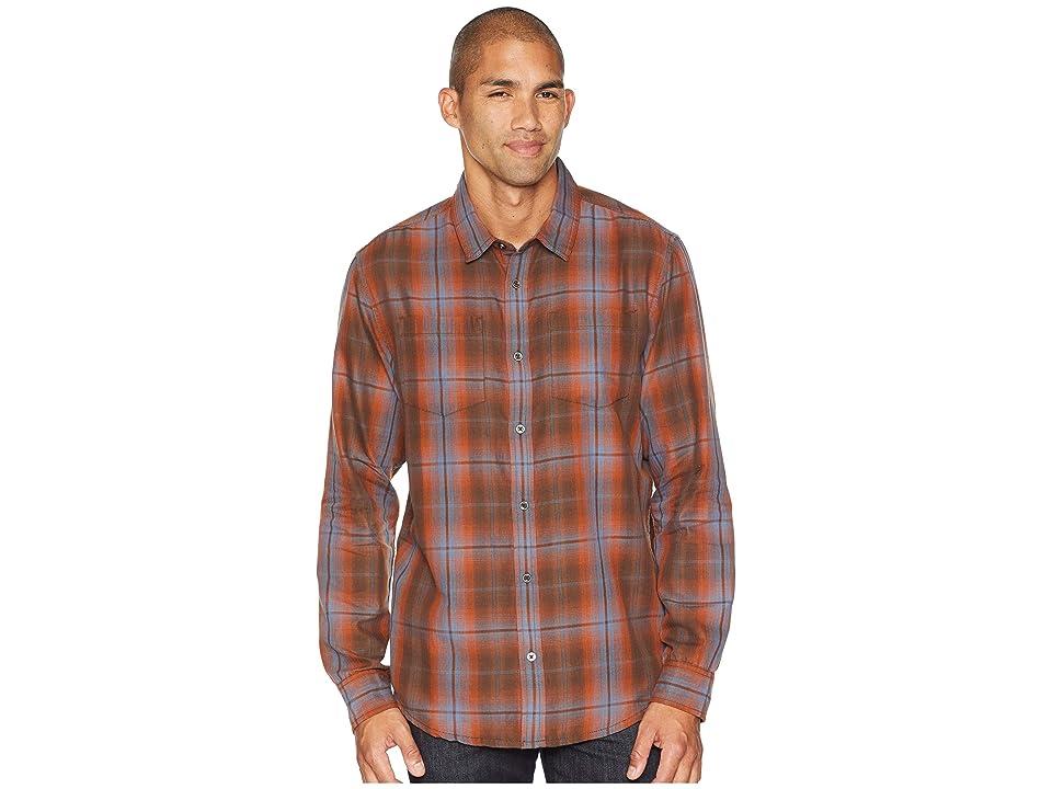 Prana Holton Long Sleeve Shirt (Scorched Brown) Men