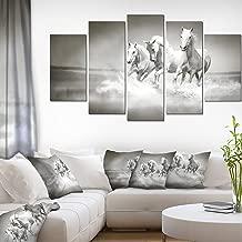 Design Art Horses Running Through Water Oversized Animal Wall Art