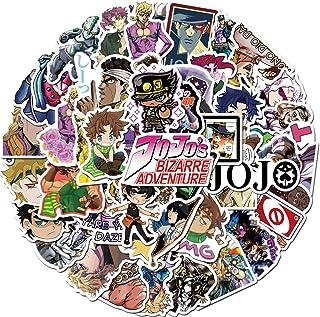 Anime JoJo's Bizarre Adventure Stickers Pack 50 Pcs Cute Cartoon Sticker Vinyl Decals for Car Bumper Helmet Luggage Laptop Water Bottle (JoJo's Bizarre Adventure)