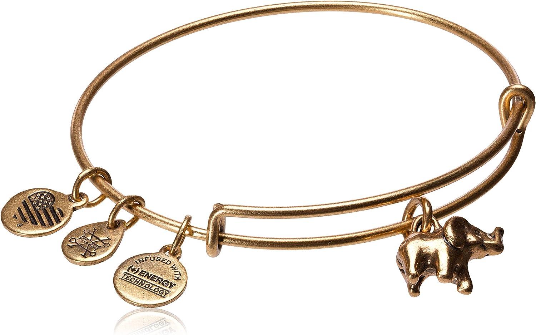 Gold plated Elephant face Enameled Bangle Bracelet  Set Of 2
