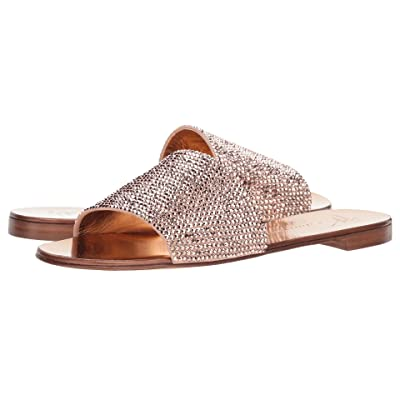 Giuseppe Zanotti Adelia Rhinestone Slide Sandal (Cam Shell) Women