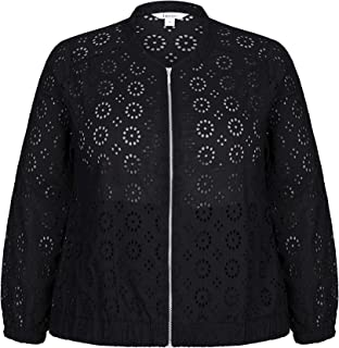 Beme Long Sleeve Broderie Jacket - Womens Plus Size Curvy