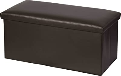 Home Basics Bench Storage Ottoman (Brown)