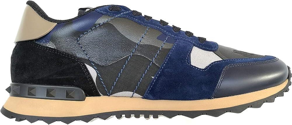 Valentino garavani, sneakers ,scarpe per uomo,in vera pelle al 100 %,numero 41,5 eu UY2S0723XVU