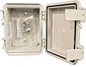 BUD Industries NBF-32302 Plastic Outdoor NEMA Economy Box with Solid Door, 5-7/64