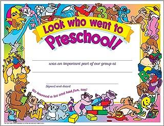 Look Who Went To Preschool! Certificate (30 Pack)