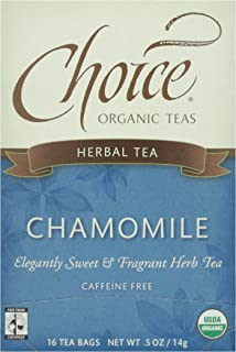 Choice Organic, Chamomile Herb Tea, 16 ct