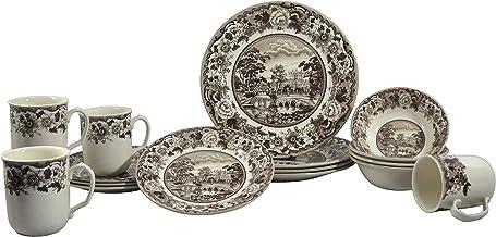 Claytan SILVERDALE 16PC DINNER SET BELMONT BROWN (1603RS16)