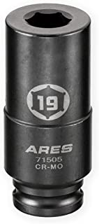 ARES 71505-19mm Harmonic Balancer Socket for Honda - Deep Counter-Weighted Design - Increased Torque for Stubborn Crank Bolts
