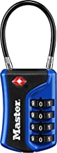 Master Lock Padlock, Set Your Own Combination TSA Accepted Cable Luggage Lock, 1-3/8 in. Wide, Assorted Colors, 4697D