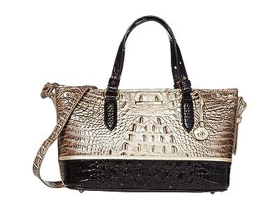 Brahmin Crescent Mini Asher Satchel (Mercury) Satchel Handbags