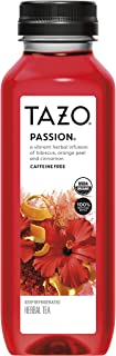 Tazo Iced Tea, Hibiscus Passion Herbal Tea, 12 fl oz Bottle