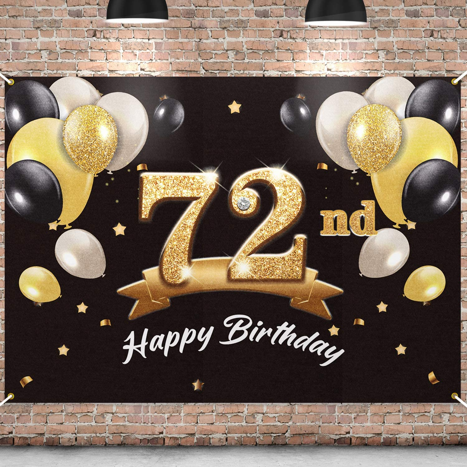 Lowest price Popular products challenge PAKBOOM Happy 72nd Birthday Banner Backdrop - 72 Party