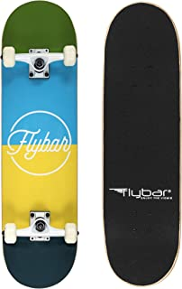"""Flybar 31"""" x 8"""" Complete Beginner Skateboards 7 Ply Maple Wood Board Pre Built - 7 Designs Available"""