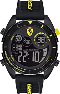Scuderia Ferrari MEN'S BLACK DIAL BLACK SILICONE WATCH - 830744 0830744
