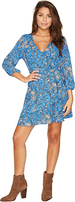 Hugh Printed Wrap Dress