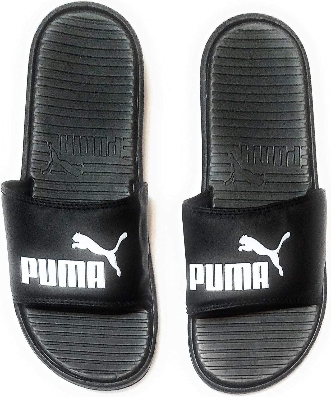 Puma Men's Pop Cat Athletic Slide Sandals, Black, 10