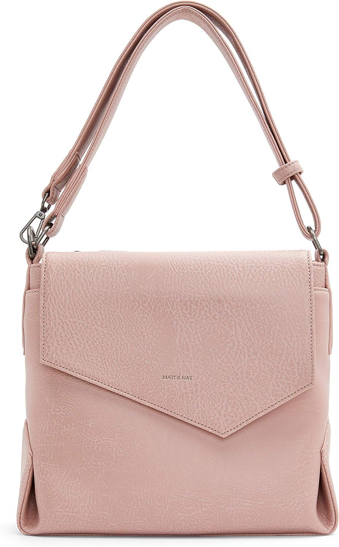 Matt & Nat Vegan Handbags, Monkland Dwell Hobo Bag, Black - 100% Animal & Cruelty Free, 100% Recycled Linings, Eco-Friendly