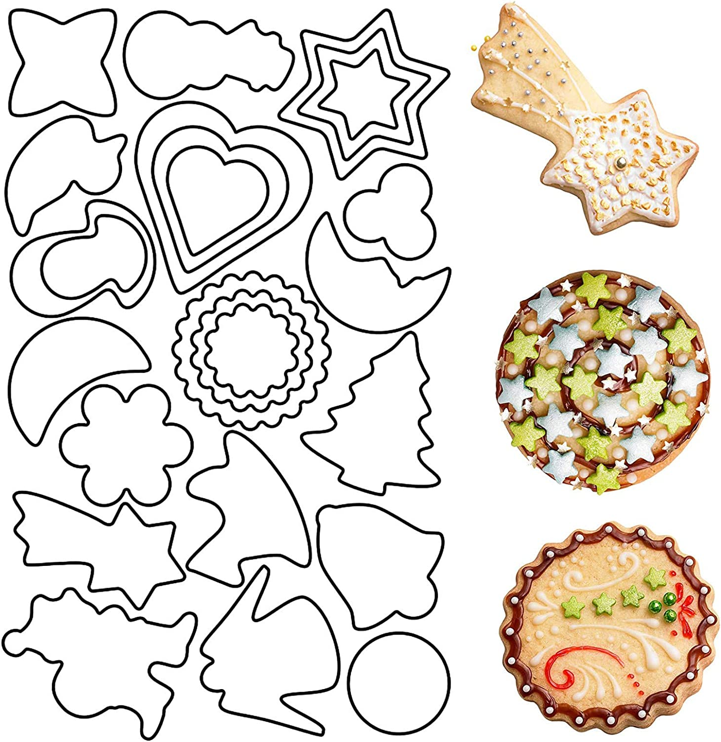 25 PCS Holiday Cookie Pack Cutters Shapes Al sold out. Variety Finally resale start