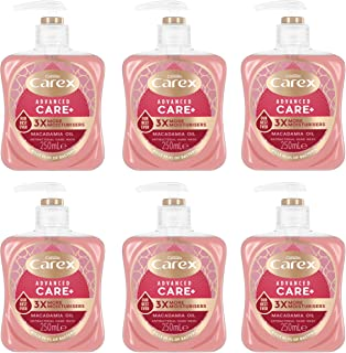 Carex Advanced Care Macadamia Oil Antibacterial Hand Wash Pack of 6, Hand Soap with 3 times more moisturisers*. Antibacter...
